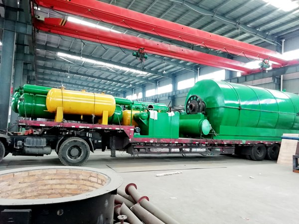 waste tyre to oil pyrolysis plant delivered to heilongjiang china