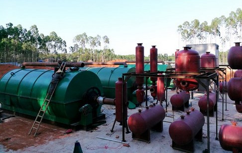 3 sets used tyre pyrolysis plants successfully installed in Guangdong, China