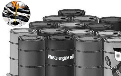 What is the waste engine oil to diesel disposal cost?