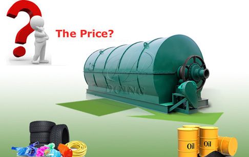 What is the pyrolysis plant price for recycling waste tyre and plastic?