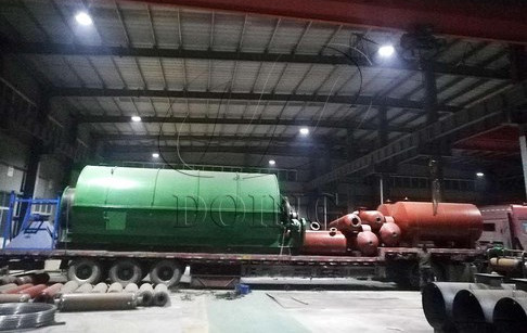 Small waste tyre pyrolysis plant delivery to Burkina Faso