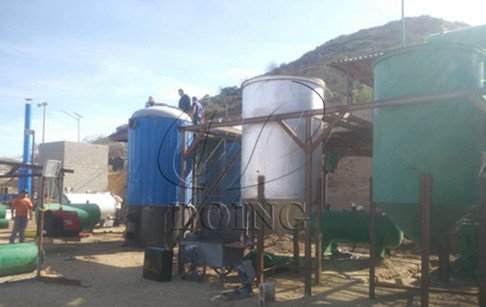 10 tons waste oil to diesel distillation plant successfully installed and run in Tijuana, Mexico