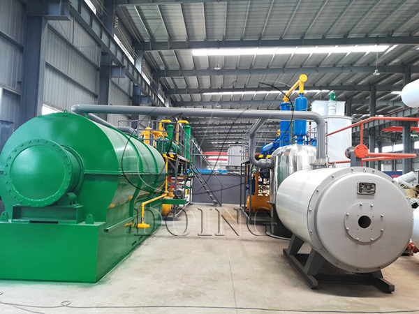 waste plastic convert to diesel oil process machine