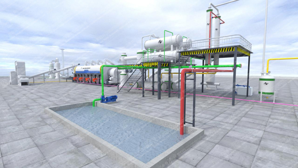 automatic pyrolysis plant