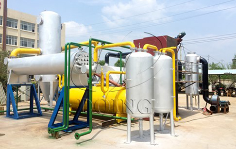 No pollution fully automatic waste tyre pyrolysis plant