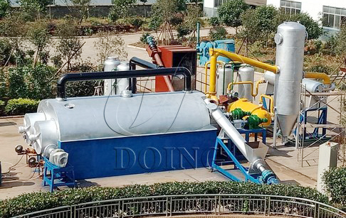 <b>Fully continuous waste tyre pyrolysis plant </b>