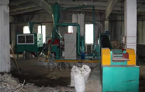Scrap copper wire granulator machine successfully installed in Russia