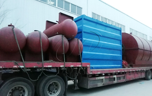 2 sets waste tyre pyrolysis plants delivered to Anhui, China
