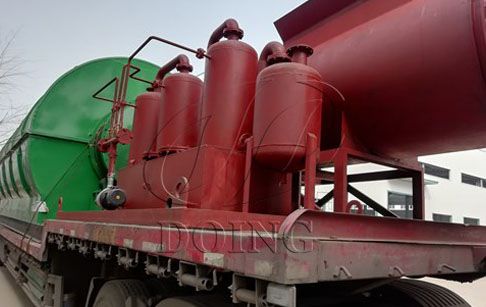 4 sets waste tyre pyrolysis plants delivery to Guizhou, China