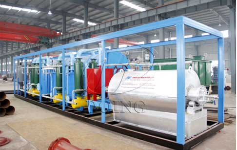 Small scale waste tyre pyrolysis equipment
