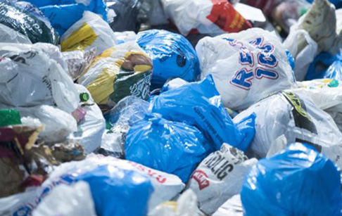 What kind of plastic bags can be recycled by pyrolysis plant?