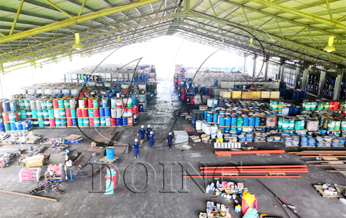 Waste lubricating oil purification and recovery process