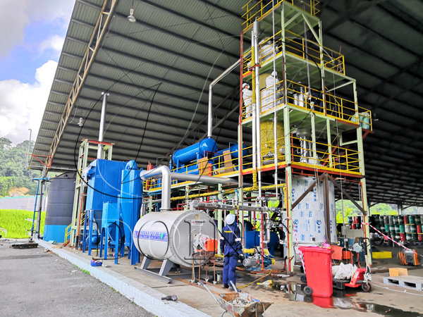used lube oil refining plant