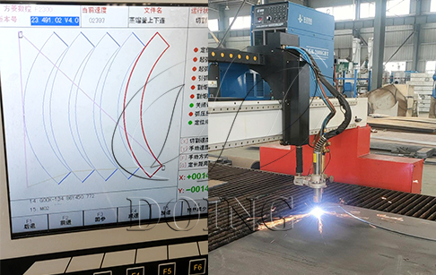 Plasma cutting machine introduced to improve the DOING machines' quality