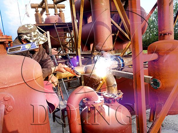 tire pyrolysis machineproject