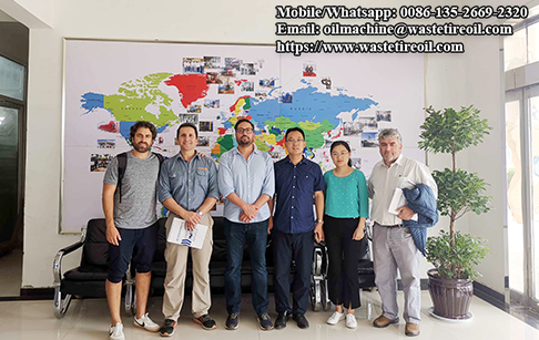 Customer from Chile visit DOING for the waste tyre pyrolysis plant