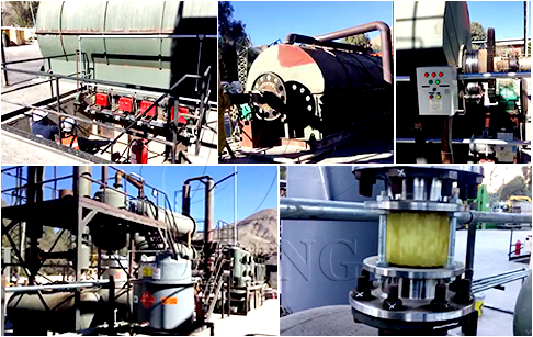 10T/D waste tyre pyrolysis plant and tyre oil distillation plant running video in Chile