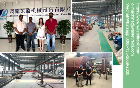 Customer from India came to investigate waste tyre recycling pyrolysis plant