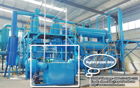The temperature and pressure requirement for waste plastic pyrolysis machine