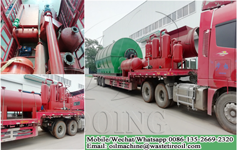 12T/day waste tyre to fuel recycling plant delivery to Jiangxi, China