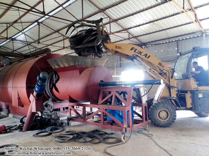 waste tire pyrolysis machine