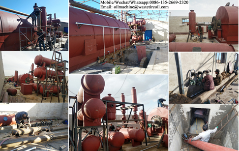 Two sets of 10T/day waste tire pyrolysis machine project in Inner Mongolia, China