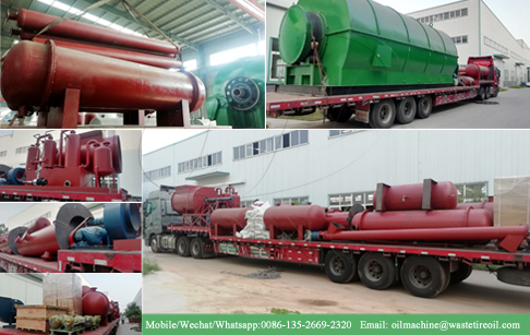 24TPD waste tire recycling to oil machine delivered to Guangxi, China