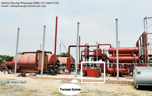Why is DOING plastic pyrolysis plant equipped with a vacuum system?