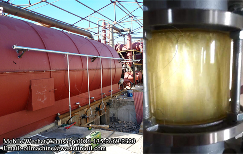 20TPD waste tire pyrolysis machine producing oil well in Inner Mongolia, China