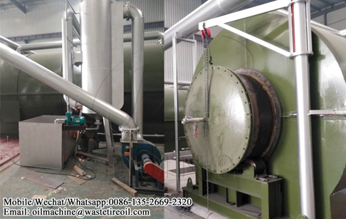 Two sets of waste tyre pyrolysis plant project site in Anhui, China