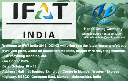 Henan Doing Company will go to Mumbai for IFAT India 2019 on 16-18 October 2019