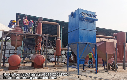12TPD waste plastic pyrolysis plant project for paper mill waste recycling to oil in Indonesia