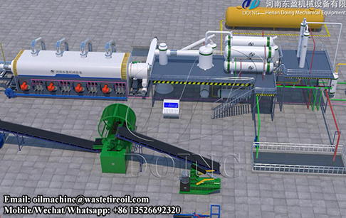How the continuous pyroysis plant for waste plastic is sealed while running?