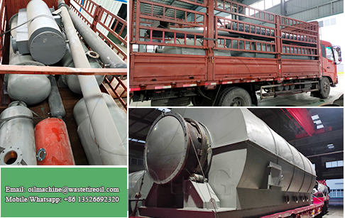DOING new type 12TPD waste tyre pyrolysis plant delivered to the Philippines