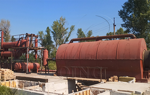 12TPD waste tyre pyrolysis plant project installed in Ukraine