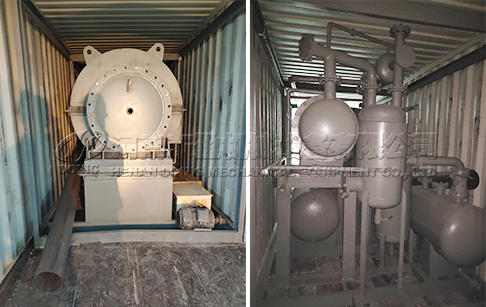 500kg/day mini tyre pyrolysis plant has been shipped to Chile