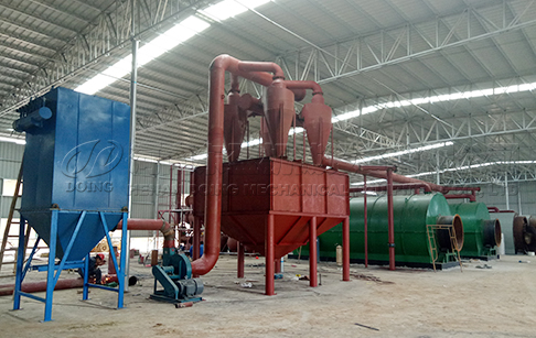 Does your tire pyrolysis machine produce any waste? How to deal with it?