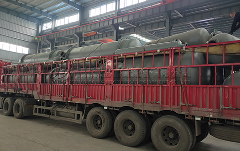 2 sets of waste tyre pyrolysis plant was loaded and delivered to USA