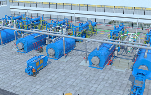 How much does a tyre processing pyrolysis plant cost?