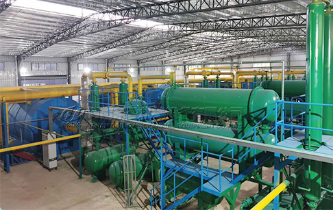 Good News! 72TPD waste tyre pyrolysis plant project producing oil in Australia