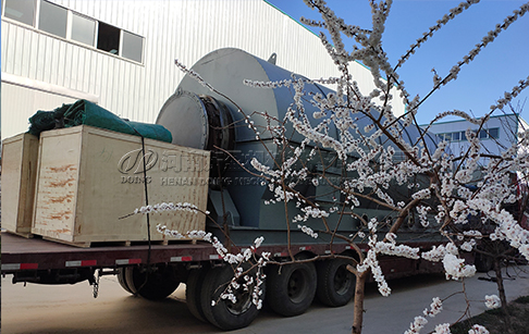 Two sets 12ton capacity waste tyre pyrolysis plant delivery for Mexico customer