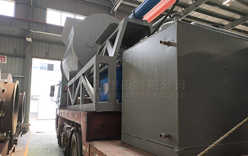 12T waste tire pyrolysis machine was sent to Latvia
