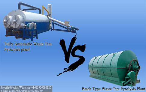 What are the benefits of using fully automatic waste tire pyrolysis plant compared with the batch one?