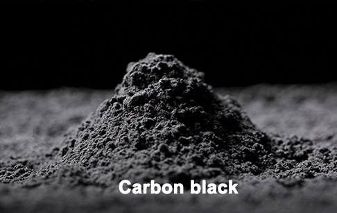 What is the application of carbon black from waste tire pyrolysis plant?