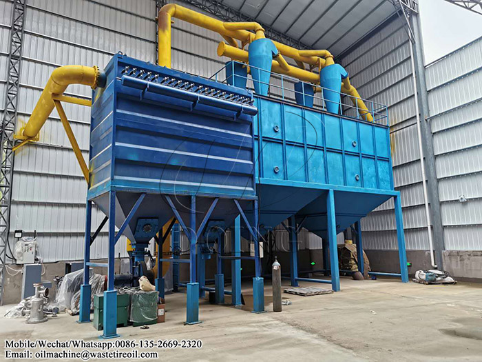 waste rubber tire pyrolysis plant
