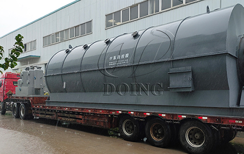Six sets of 15TPD waste tire to oil pyrolysis plants delivered to Jilin