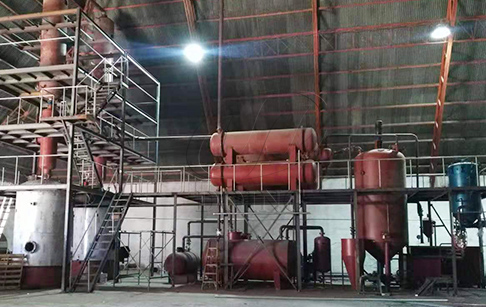 12TPD waste tire to oil pyrolysis plant and 10TPD used oil refinery plant project in Mexico