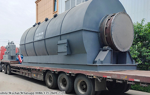 4 sets of 12TPD waste tire to oil pyrolysis plant delivered to Liaoning