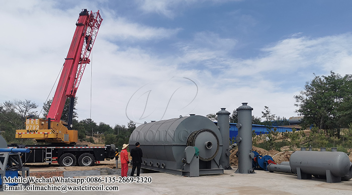 waste tire to fuel oil yrolysis plant