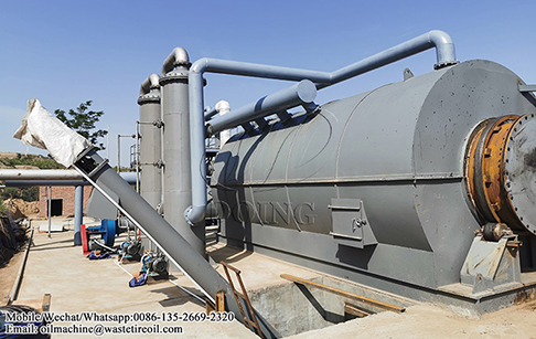 12TPD waste tire pyrolysis plant project in Shannxi, China